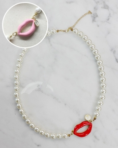 Lip pearl Necklace