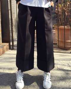 wide crop slacks