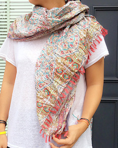 flower cotton scarf